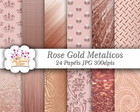 Kit Papel Digital Rose Gold
