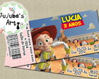 Arte Digital Convite Ingresso Toy Story