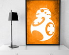 Quadro Decorativo Star Wars BB8