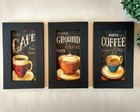 kit 3 Quadros Coffee colors