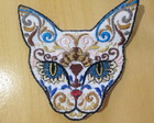 Patch Mexican Cat Skull