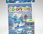 Kit Colorir Smurfs + Brindes