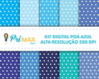 Kit Digital Poá Azul - Cód 0500