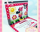 Convite Pop Up Minnie Vermelha