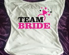 kit c 7 camisetas Team Bride g. canoa 2