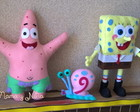 Bob Esponja 3D - Kit com 3 Personagens