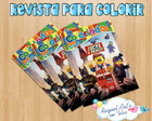 Revista de colorir Lego