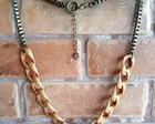 Maxi Colors Chains Caramel & Ouro Velho