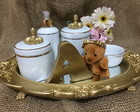 KIT HIGIENE FILETE DOURADO PORCELANA