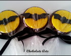 Pirulito de chocolate Batman