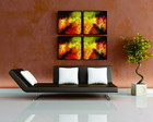 QUADRO DECORATIVO ABSTRATO KIT C/ 04