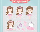 Kit Digital Scrapbook Bailarina N30