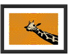 Quadro Girafa Psicodelica Pop Art Animal