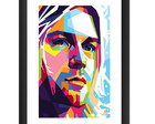Quadro Kurt Cobain Nirvana Rock Pop Arte