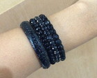 Kit de pulseiras pretas - ALL BLACK