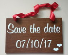Placa Save the Date p/ 1 PET Rústica