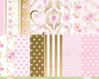 Kit digital Rosa- Scrapbook+brinde