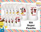 kit super familia 20 pçs