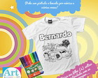 Camiseta de Colorir Hot Wheels