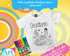 Camiseta de Colorir Princesas