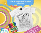 Camiseta de Colorir Turma do Chaves