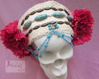 Headpiece tribal com flores