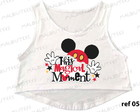 cropped gestante mickey minnie