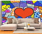 Papel Parede Romero de Britto Heart Kids