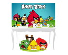 Combo Festa Prata Angry Birds Painel Mdf