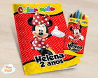 Kit colorir com giz de cera Minnie