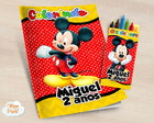 Kit colorir com giz de cera Mickey