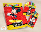 Kit colorir giz massinha Mickey