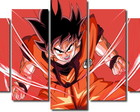Quadro Decorativo Dragon Ball Goku 5 pç