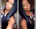 Lace wig humano 60cm invisible part yaki