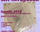 kit Scrapbook agenda wire-o reciclado