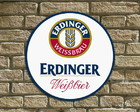 "Placa Decorativa Redonda ""Erdinger"""
