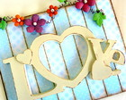 Placa decorativa casamento-LOVE in blue