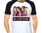 Camiseta BlackPink Integrantes Raglan Manga Curta