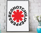 Poster Red Hot Chili Peppers com moldura