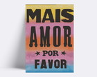 Placa decorativa/ MAIS AMOR06