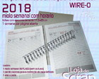 kit Scrapbook agenda semanal wire-o papelao