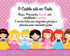 Convite As Princesas CUTE