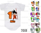 kit mesversario Dragon Ball Goku c/12 bodies