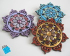 Broches mandala grande biscuit