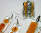 Bijuterias de Vidro / Glass Jewelry Set