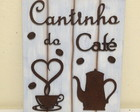 Placa Decorativa Cantinho do Café