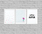 Kit quadros infantil little sister