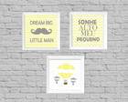 Kit quadros infantil dream little man