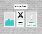 kit quadro infantil be happy adventure