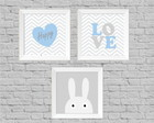 Kit quadros infantil love happy